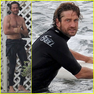 Gerard Butler: Surfing Lessons in Malibu!