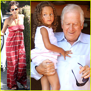 Halle Berry &#038; Nahla Have Lunch with Olivier Martinez's Father!