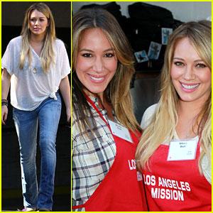 Hilary & Haylie Duff Help the Homeless!