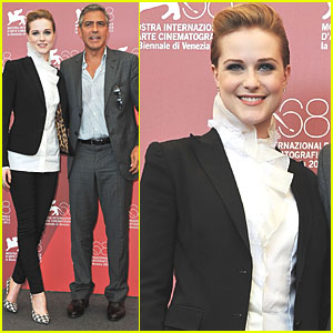 George Clooney & Evan Rachel Wood: 'Ides' Photo Call