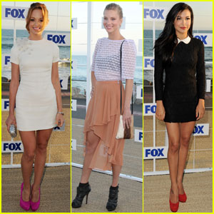 Jayma Mays & Heather Morris: 'Glee' at the Fox Party!