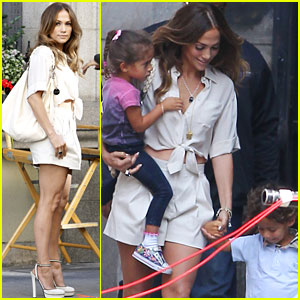 Jennifer Lopez: 'Papi' Shoot with Max and Emme!