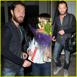 Jude Law: Flowers from a Fan!