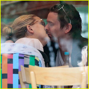 Kate Hudson & Matt Bellamy: Cafe Kiss
