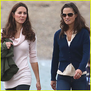 Pippa Middleton & Duchess Kate: Seaside Stroll