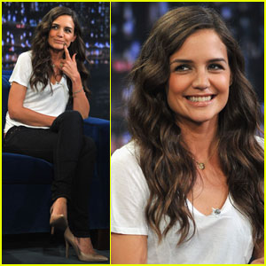 Katie Holmes Plays Pictionary on 'Jimmy Fallon'