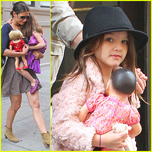 Katie Holmes: NYC with Suri and a Baby Doll