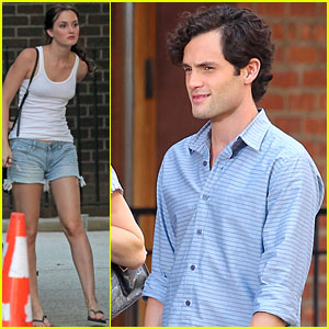 Leighton Meester & Penn Badgley: Filming 'Gossip Girl!'