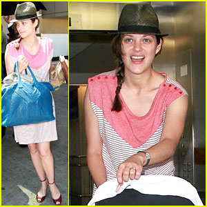 Marion Cotillard & Guillaume Canet: LAX Landing with Marcel!