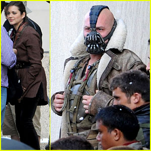 Marion Cotillard & Tom Hardy: 'Dark Knight Rises' Set!