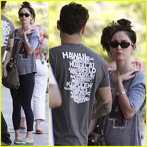 Megan Fox Runs Errands with Brian Austin Green