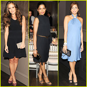 Minka Kelly & Freida Pinto: Ferragamo Dinner in NYC!