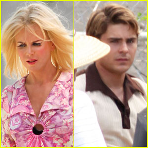 Nicole Kidman & Zac Efron: Back to Work on 'Paperboy'