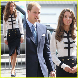 Prince William & Kate Visit Birmingham After Riots