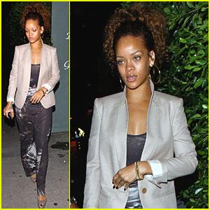 Rihanna: Giorgio Baldi Restaurant Run