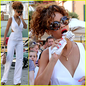 Rihanna Screams for Ice Cream!