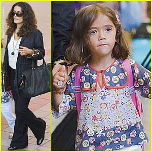 Salma Hayek &#038; Valentina: LAX with Francois-Henri!