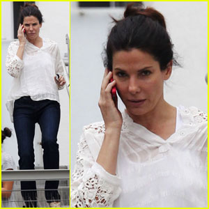 Sandra Bullock: Back from Wyoming Trip