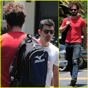 Shia LaBeouf Passes By Joe Jonas in West Hollywood