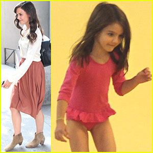 Suri Cruise: Gymnastics Class with Dad!
