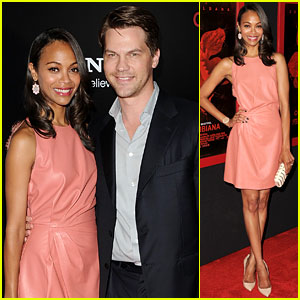 Zoe Saldana: 'Colombiana' Screening with Keith Britton!