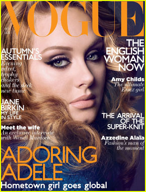 Adele Covers 'British Vogue' October 2011
