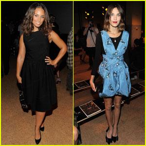 Alicia Keys & Alexa Chung: Front Row at Proenza Schouler!