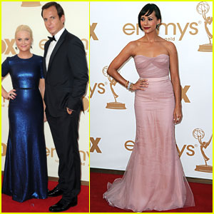Amy Poehler & Will Arnett - Emmys 2011 Red Carpet