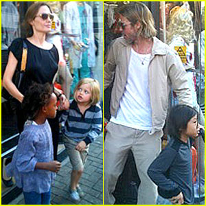 Angelina Jolie & Brad Pitt: Party Store with the Kids