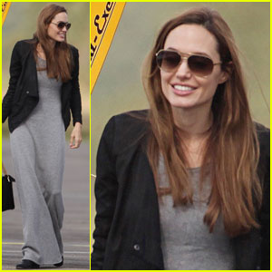 Angelina Jolie: Flying Lesson With Maddox!
