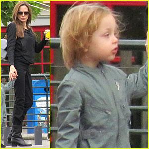 Angelina Jolie: Legoland with the Kids!