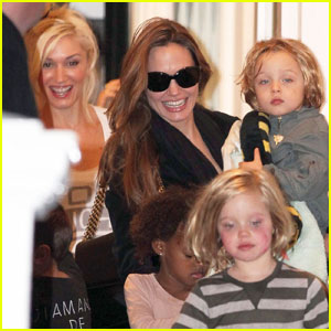 Angelina Jolie: Playdate at Gwen Stefani's House!