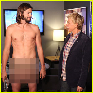 Ashton Kutcher: Naked on 'The Ellen DeGeneres Show'!