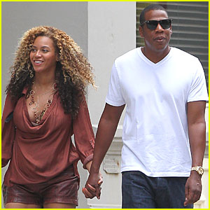 Pregnant Beyonce & Jay-Z: Late Lunch in NYC