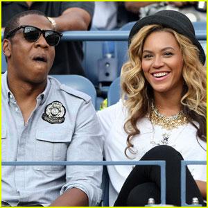 Beyonce & Jay Z Watch U.S. Open Men's Final