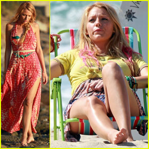 Blake Lively Takes 'Savages' to the Beach