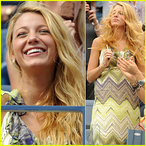 Blake Lively: US Open with Lorraine Schwartz!