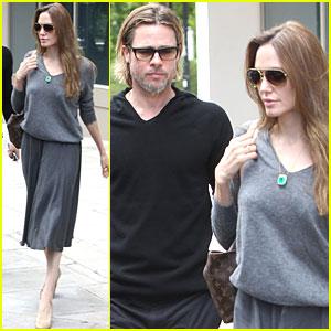 Angelina Jolie & Brad Pitt: 45 Park Lane Lovebirds