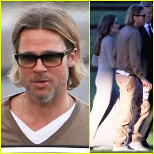 Angelina Jolie & Brad Pitt Reunite in Richmond
