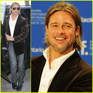 Brad Pitt: 'Moneyball' Press Conference in Toronto!