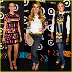 Camilla Belle & Emma Roberts: Missoni for Target Launch!