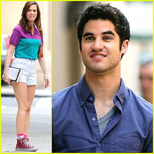 Darren Criss: 'Imogene' Set with Kristen Wiig