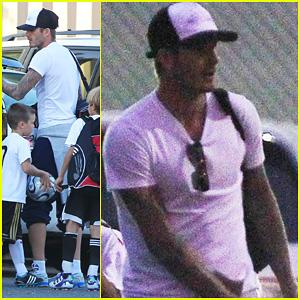 David Beckham: Soccer Practice with Romeo & Cruz!
