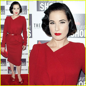Dita Von Teese: 'God Save My Shoes' Premiere!