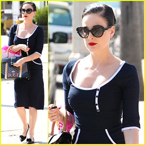 Dita Von Teese Shops the Day Away