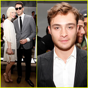 Ed Westwick Supports Simon Spurr at Fashion Week