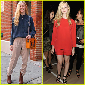 Elle Fanning: Fashion Week in NYC!