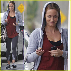 Emily Blunt Works Up a Sweat