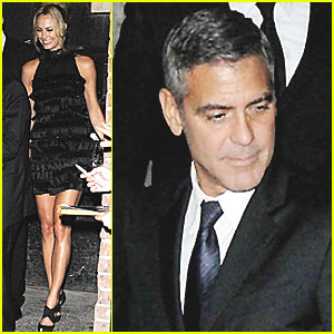 George Clooney & Stacy Keibler: Vanity Fair Party!