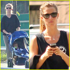 Gisele Bundchen: Pre-Workout Walk with Benjamin